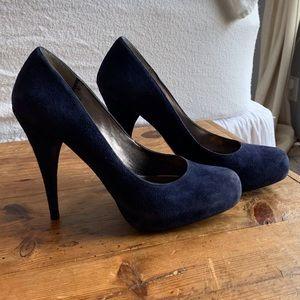 Steve Madden navy blue suede heels size 8